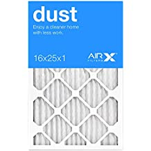 Best for Dust Control - AiRx Dust 16x25x1 Furnace Filters  - Pleated 16x25x1 MERV 8 Air Filters, AC Filter, Air...