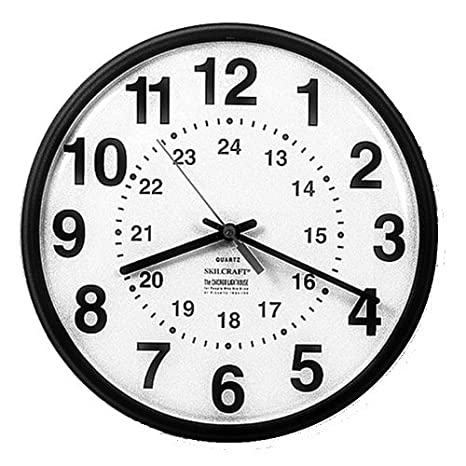 Skilcraft NSN3428199 Reloj de pared redondo, 12.75 en. D, Brown Frame-White Face, BK Imprimir: Amazon.es: Electrónica