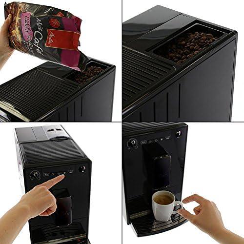 Melitta Machine à Café Automatique, Caffeo Solo, Noir Pure Black, E950-222