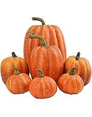 7 stycken pumpa-dekorationer, halloween, konstgjorda pumpor, tacksägelse, höst, mini-pumpa, dekoration, rekvisita för höst, tacksägelse, halloween, jul, trädgård, hem, fest, festival, dekorationer