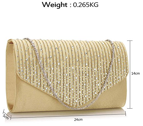 Ladies Chain 1 Diamante Handbag Purse Nude Style Clutch Design Evening Women Envelope New Studs Long With Wrq7qYw6F
