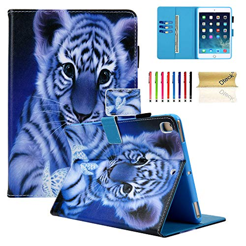 (Dteck iPad 9.7 inch 2018 2017 / iPad Air 2 / iPad Air Case - Multiple Viewing Angles Stand Smart Folio Protective Cover with Auto Sleep/Wake for Apple 9.7 inch iPad 6th / 5th Gen, iPad Air 1/2 - Tiger)