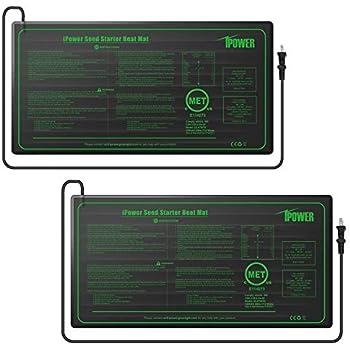 iPower GLHTMTSX2 2-Pack Durable Waterproof Seedling Heat Mat 10
