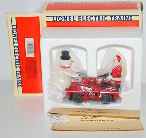 (Lionel 6-18426 Santa Claus & Snowman RED operating handcar motorized Christmas)