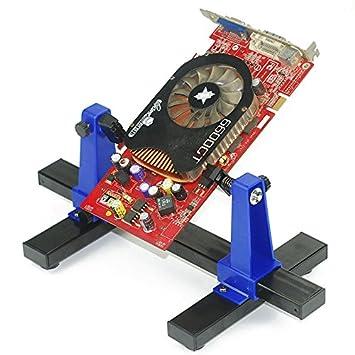 Tablero de circuito ajustable Titular PCB Soldadura y montaje Soporte Herramienta de reparación de la abrazadera Rotación de 360 grados: Amazon.es: ...