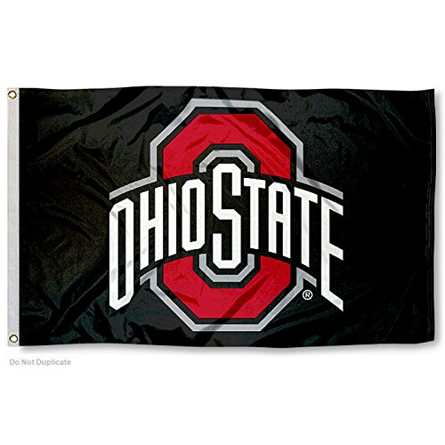 College Flags and Banners Co. Ohio State Buckeyes Black Flag