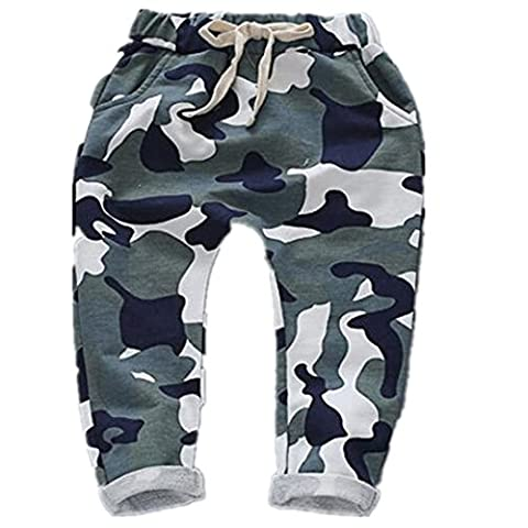 Ding-dong Baby Kid Boys Camouflage Harem Pants(Green,3T)