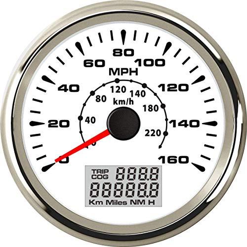 ELING Universal GPS Speedometer Gauge 160MPH 220KM/H Trip Meter Odometer for Car Racing Motorcycle 85mm 9-32V