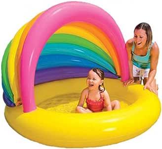 ZOUQILAI Piscina Hinchable para bebés Piscina de Arena Casa de Piscina para niños Piscina para niños Piscina Cubierta y al Aire Libre con sombrilla Flotante Montaje en Fila: Amazon.es: Hogar