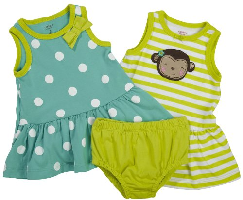 Carter's Baby Girl's 2 Pack Sleeveless Dress Set
