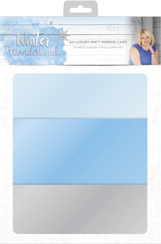 Sara Signature Winter Wonderland Luxury Matt Mirror Card, Multi-Colour, Size A4