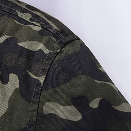 Giubbini Mimetica Addensare Stile Cappuccio Collare Esercito Militari Giacca Traspirante Yuandian Casuale Invernale Outdoor Uomo In Autunno Con Giacche Camouflage Piedi Cappotto Caldo qT0Fq7x