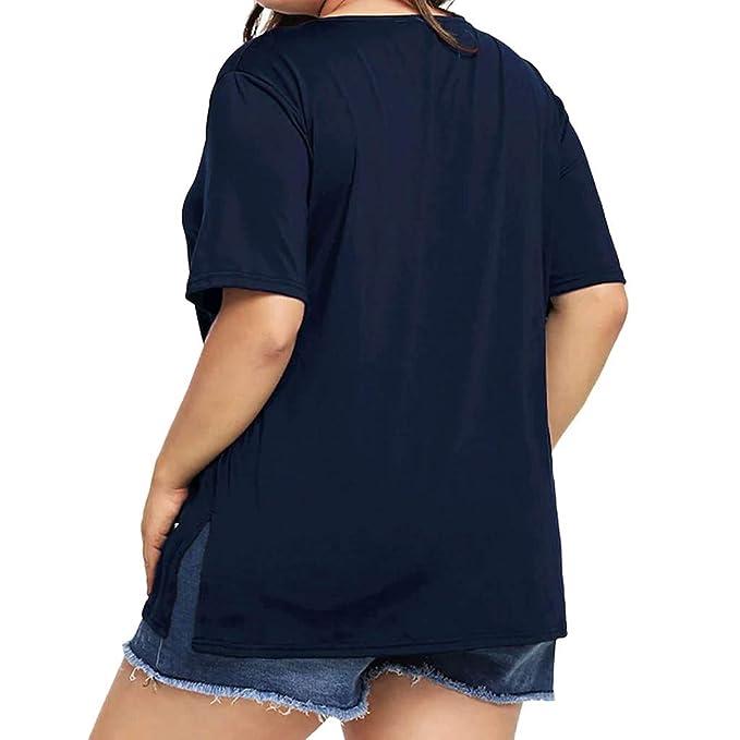 Luckycat Camisetas Mujer Verano Blusa Mujer Elegante Camisetas Mujer Manga Corta Camiseta Mujer Camisetas Mujer Fiesta Vendaje Camisetas Mujer Tallas ...
