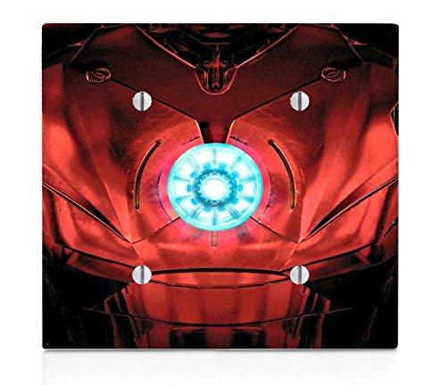 LE Prints Chest Armor Double Blank Electrical Switch Plate -