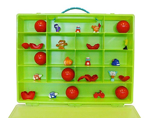 Fun For Life Organizer for Zuru Smashers Smash Ball Football Theme, Sports Collectables Toy. Figures Are Not Included. Apple Green