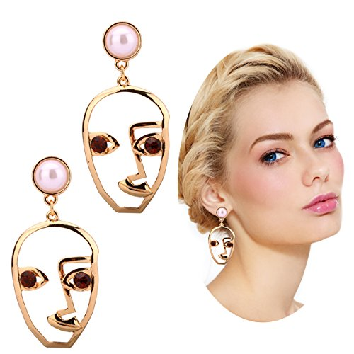 Statement Geometric Face Ethnic Earrings Skull Head Earrings for Women Cool Party - Shaped Long Face