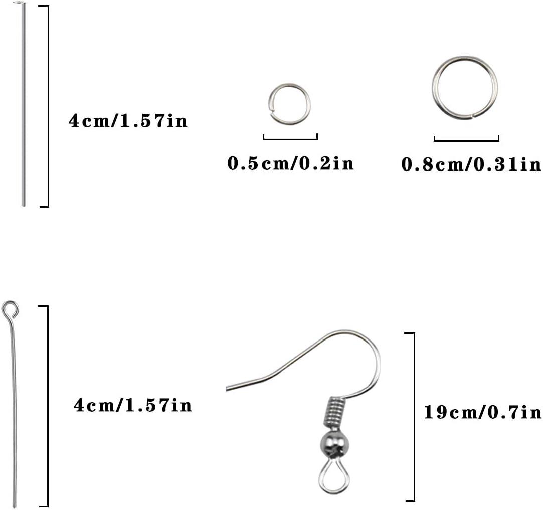 Forme Diverse Creazione di Gioielli Fai da Te wangjiangda Stampi in Silicone per Resina Stampi per Resina Gioielli Stampi per Colata di Gioielli per Orecchini Pendenti con Raccordi in Metallo