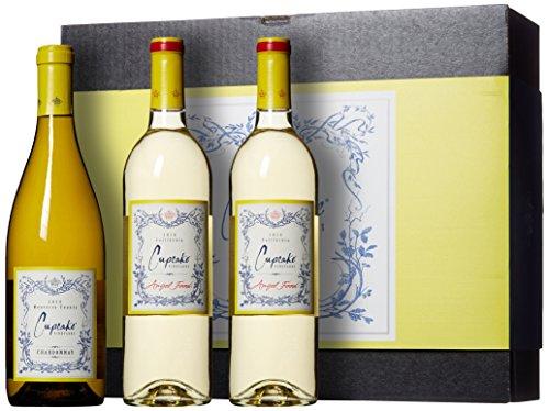 Cupcake Vineyards Trio White Wine Gift Box, 3 x 750 mL