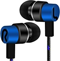 Tuscom Universal 3.5mm in-Ear Stereo Wired Earbuds Earphone with 1.2M Knitted Cable,Built-in Hands-Free Microphone