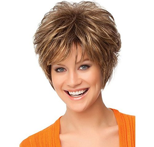 Charming Wigs New Fashion Women Party Cosplay Short Sexy Full Hair Wig +A Free Wig Cap (Easy Pinup Hair)