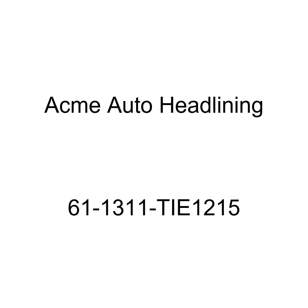 Acme Auto Headlining 61-1311-TIE1215 Turquoise Replacement Headliner 1961 Cadillac DeVille 2 Door Hardtop 4 Bow