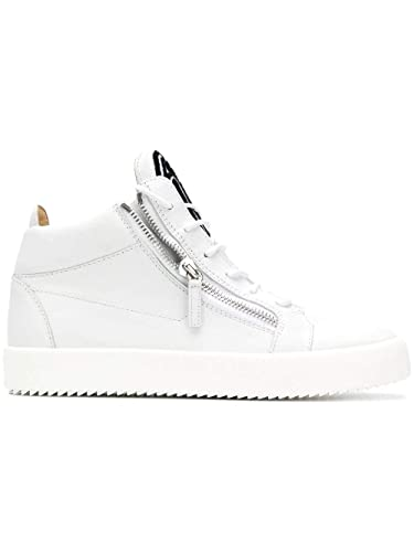 921c830d7f8a2 Image Unavailable. Image not available for. Color: Giuseppe Zanotti Design  Men's Ru80049002 White Leather Hi Top Sneakers