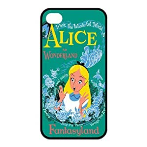 Mystic Zone Alice in Wonderland iPhone 4 Case for iPhone 4/4S Cover Fits Case KEK1262