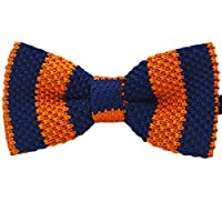 Amajiji 100% Cotton Dog Pre-Tied Bow Tie ,Adjustable Double Layer Bow Tie (D015 100% Cotton)