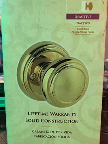 Baldwin Brass Round Pull - Baldwin Prestige Alcott Half-Dummy Knob in Polished Brass