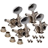 BQLZR Chrome Tuning Pegs Machine Heads 2R2L For Ukulele 4 String Guitar Bass
