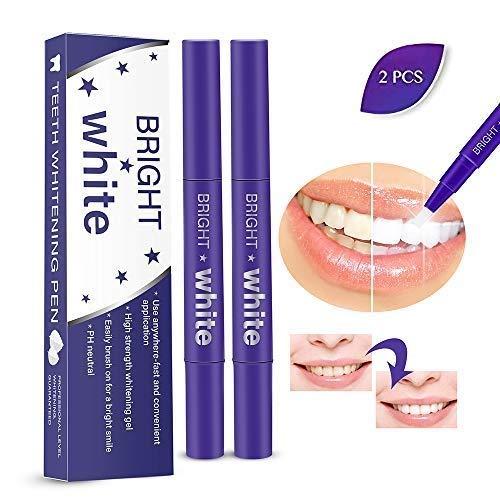 Lansiyi Teeth Whitening Pen, Advanced & Safe Teeth Whitening Gel Pen | Effective and Painless Professional Home Teeth Bleaching Kit (2 Pack)