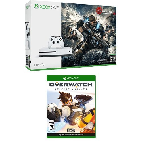 Xbox One S 1TB Console – Gears of War 4 Bundle + Overwatch – Origins Edition