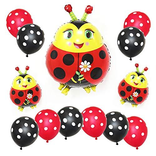 Outgeek Conjunto de Globos de Fiesta Decorativos Ladybug ...
