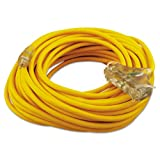 CCI - Polar/solar Outdoor Extension Cord, 100ft, Three-Outlets, Yellow