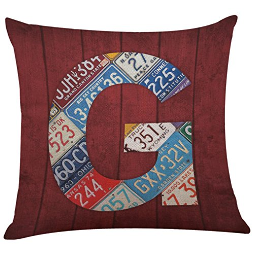 Iuhan Fashion Home Decor Cushion Cover English Alphabet Thro