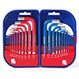 WORKPRO Allen Wrench Set, 18-piece Hex Key Set, SAE and Metric, Packed in ABS Hard Case