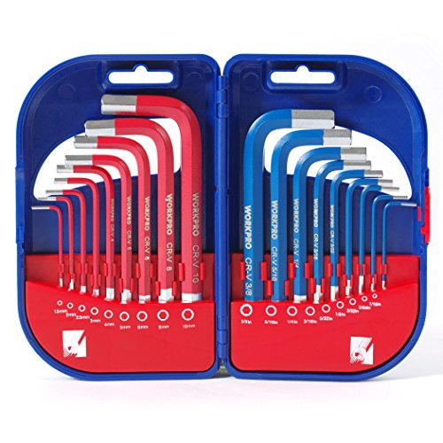 Short Arm Hex Key (WORKPRO Hex Key Set Short Arm with Plastic Box 18-Piece)