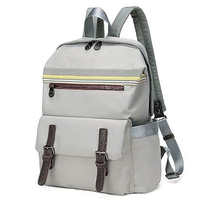 6d17bf6d32 Amazon.com  Nevenka Backpack Purse Waterproof Nylon for 14 inch Laptop  (Grey