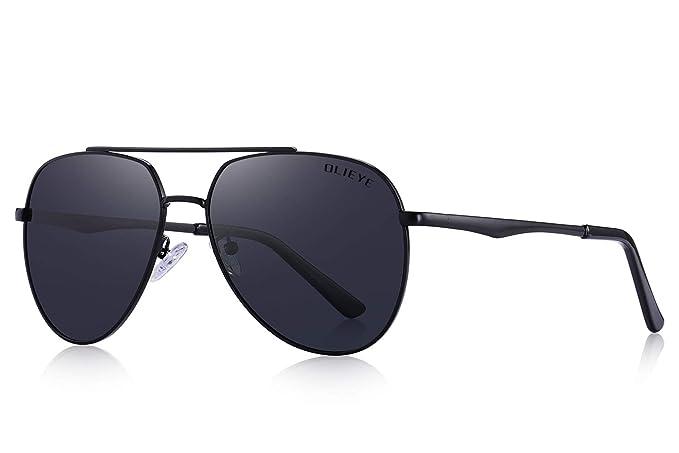 a48ed5869dbf Amazon.com  OLIEYE Retro Unisex Polarized Sunglasses for Men Women-100% UV  protection  Clothing