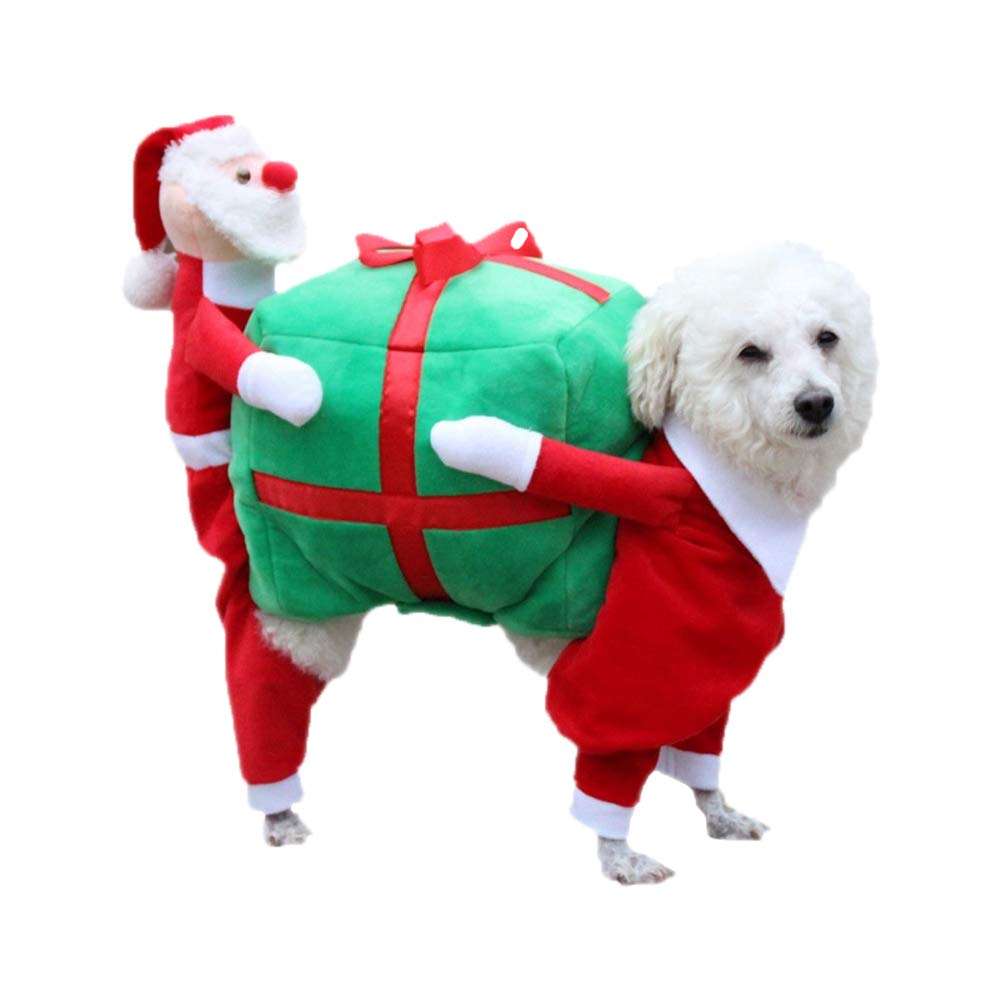 Red Medium Red Medium Christmas Dog Costumes Funny Santa Claus Dog Clothes Dog Gift Puppy Fleece Coat Warm Winter Pet Clothes Red 5 Size