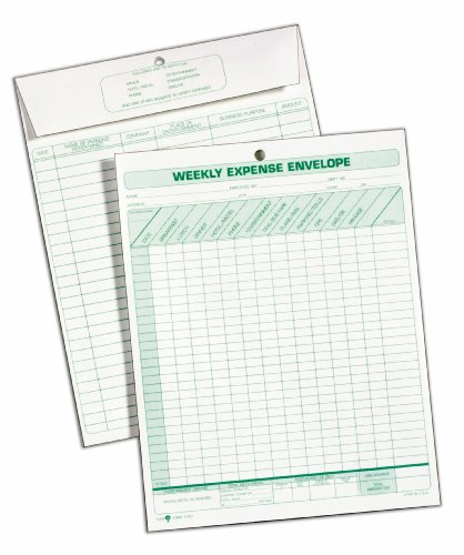 TOPS Weekly Expense Envelope, 8-1/2 X 11, 20 Envelopes Per Pack (1242) by Tops (Image #2)