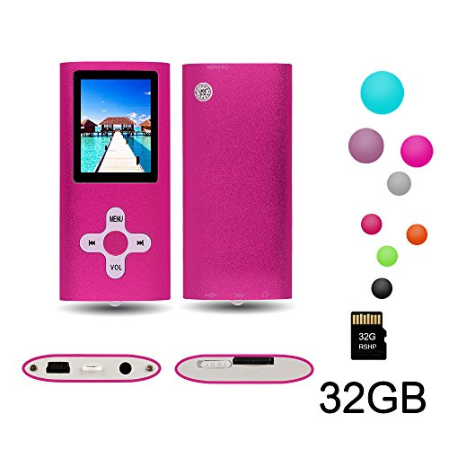RHDTShop MP3 MP4 Player with a 32 GB Micro SD card, Support