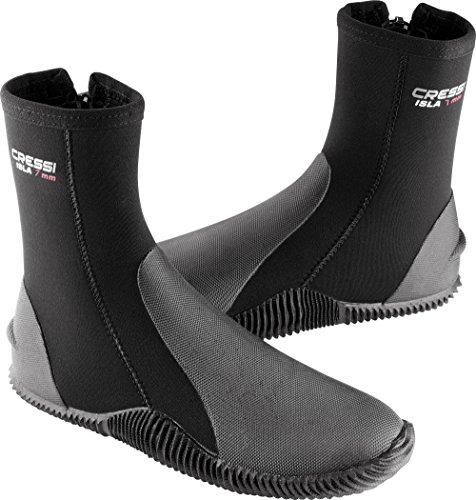 Cressi Isla 7mm, black/black, US Men's - Italian Boots Thermal