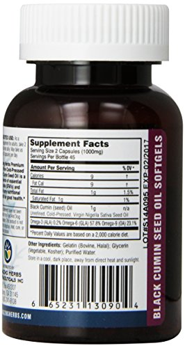Amazing Herbs Cold-Pressed Black Seed Oil 500mg Softgels - 90 Capsules by Amazing Herbs (Image #4)