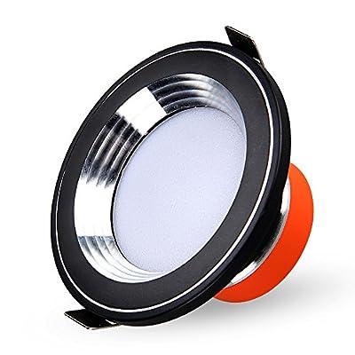 Splindg Modern Elegant Black 2.5Inch Aluminum Recessed LED Downlights Round Ceiling Lights 3W 5W 7W Super Bright Spotlights Indoor Lighting