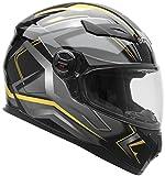 Vega Helmets AT2 Street Motorcycle Helmet for Men & Women – DOT Certified Full Face Motorbike Helmet for Cruisers Sports Street Bike Scooter Touring Moped Moto (Yellow Flash Graphic, X-Large)