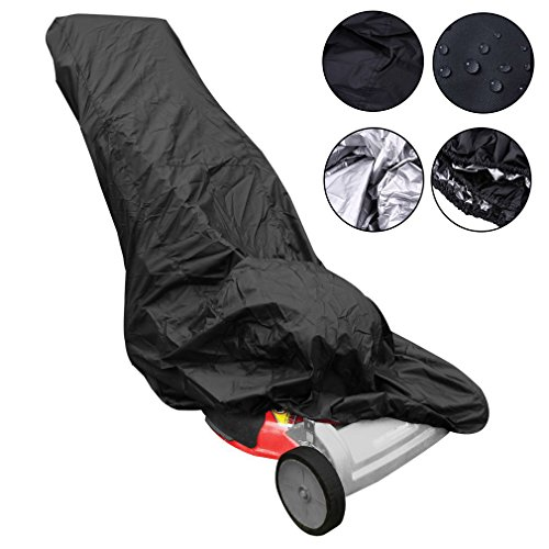 VVHOOY Waterproof Lawn Mower Cover,All Weather UV Protection Universal Fit for Toro,Craftsman,Honda,Troy-Bilt,Husqvarna Push Lawnmower and More Used Walk Behind Lawn Mowers