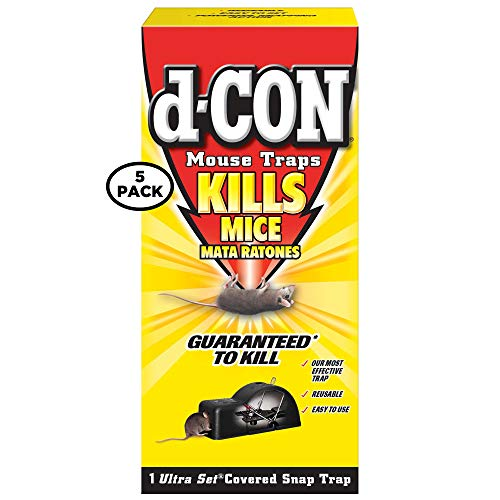 Traps Mouse D-con - D-Con Ultra Set Covered Snap Trap 1 Ct. (Pack of 5)
