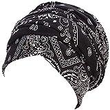 b19ed6395a9 YJYdada Women India Hat Muslim Ruffle Cancer Hat Pearl Beanie Scarf ...