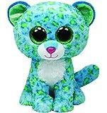Ty Beanie Boos Buddies Leona Blue Leopard Medium Plush